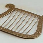 Gold Plastic Christmas Angel Harp