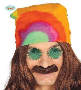 1960'S Multi Coloured Adult Hippies Bandanna