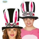 Mad Hatter Black Hat With Bunny Ears