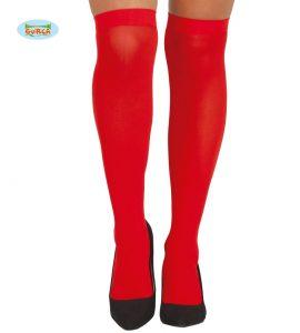 Ladies Red Knee High Stockings