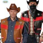 Fancy Dress Western Style Adult Assorted Colour Design Cowboy Vest