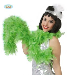 1920s Charleston Green Feather Boa
