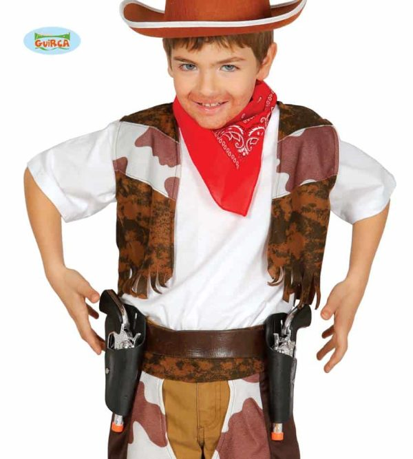 Childrens Cowboy Double Holster With Two Guns