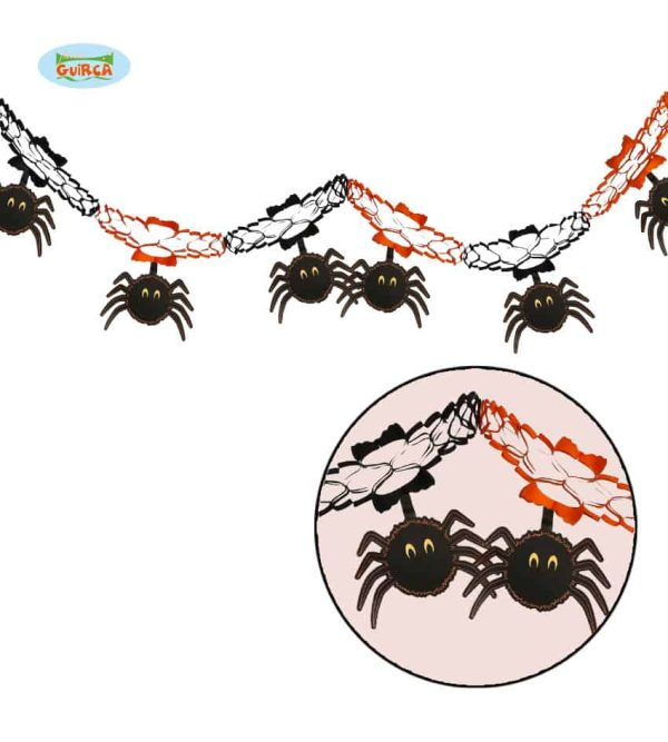 Halloween Paper Spider Hanging Decoration