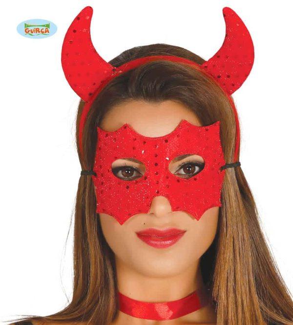 Devil Mask And Headband Set