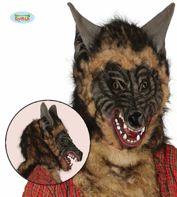 Wolf Mask With Hair
