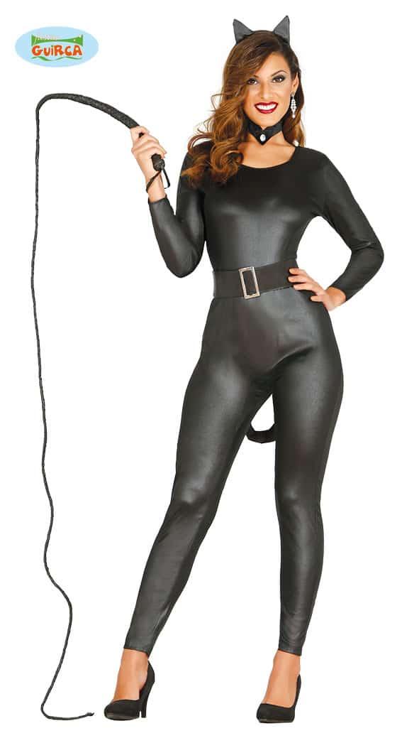 Adult Halloween Black Cat Woman Costume