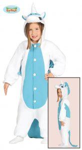 Childrens Blue Unicorn Jumpsuit Costume
