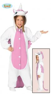 Childrens Pink Unicorn Jumpsuit Costume ~ 7-9