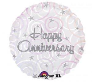 Happy Anniversary Swirls 18 inch