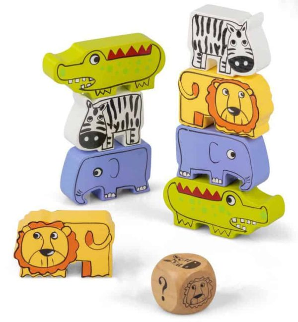 Children's Safari Theme Stacking Game