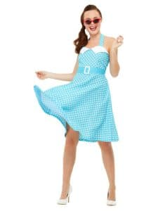 1950s Womens Blue Pin Up Costume Small