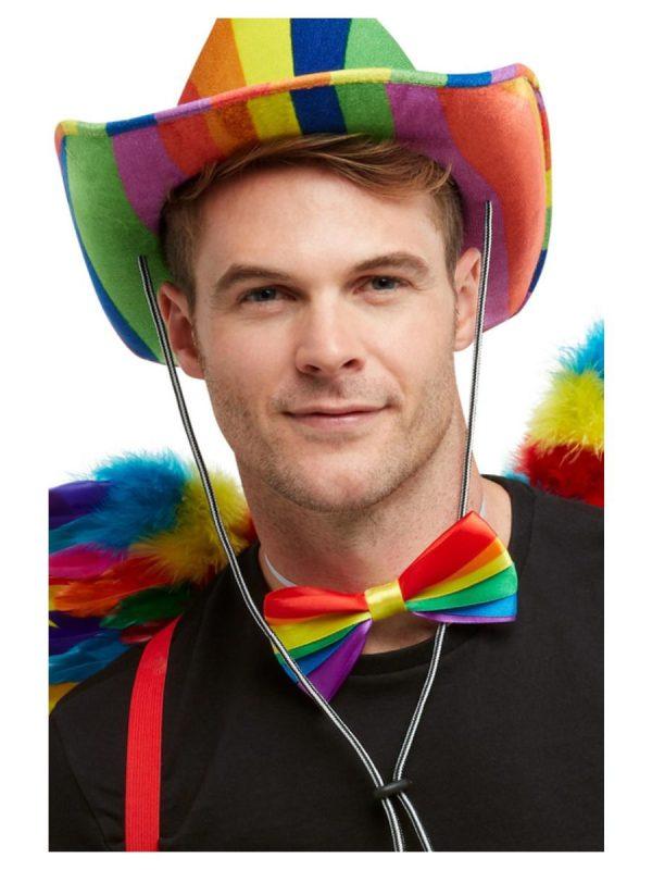Rainbow Pride Bow Tie In Multi-Colours,