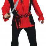 Mens Pirate Captain Costume Medium