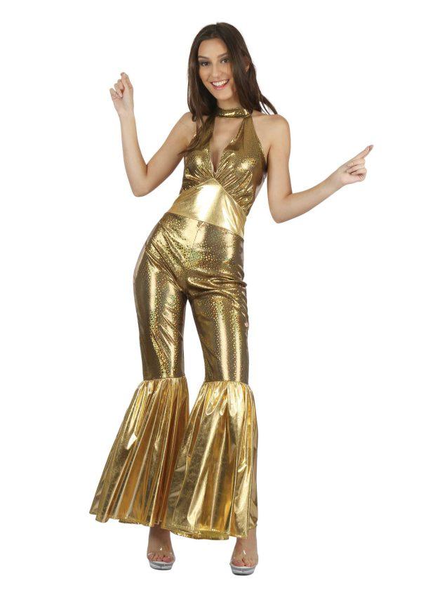 1970s Womens Gold Jumpsuit