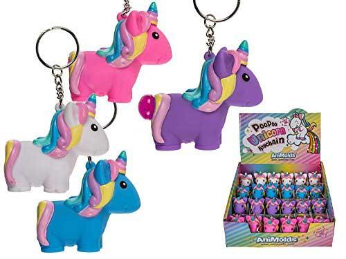 Poo Poo Unicorn Keyring