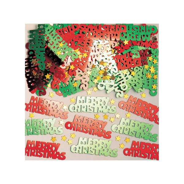 Merry Christmas Metallic Confetti