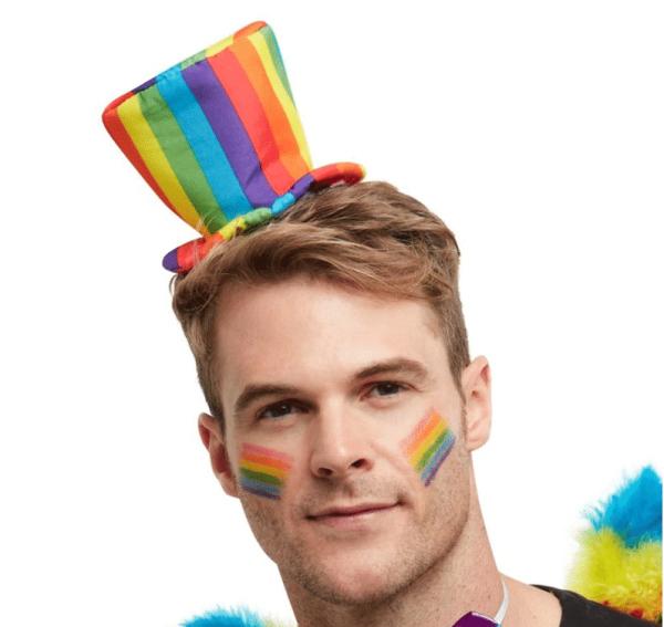 Rainbow Mini Top Hat