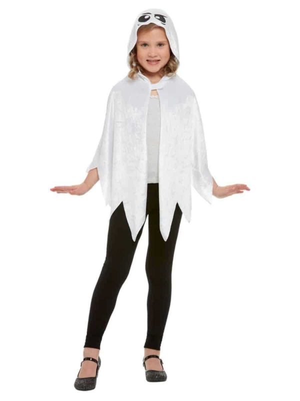 Childrens Hooded Ghost Cape