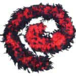 Red and Black Feather Boa