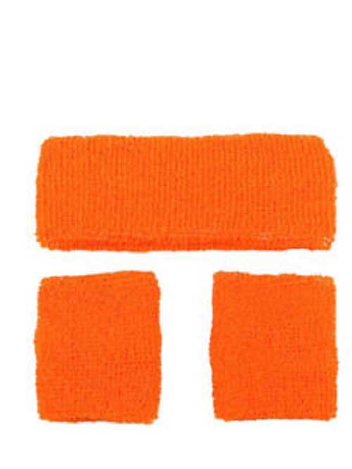 1980s Orange Sweatband and Wristbands