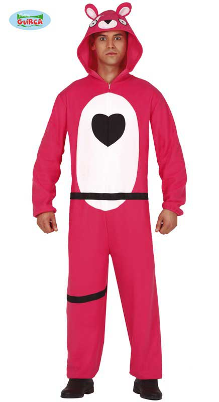 Pink Bear Fortnite Gaming Costume Large