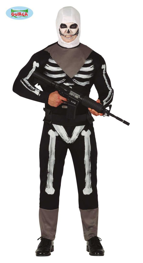 Skeleton Soldier Gaming Costume