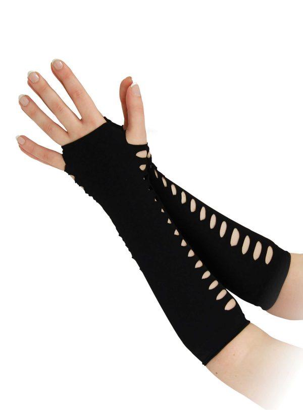 Ladder Style Black Gloves