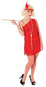 1920s Red Flapper Dress