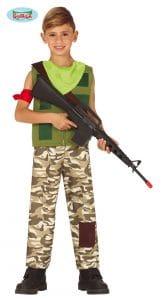 Army Gamer Costume 12-14