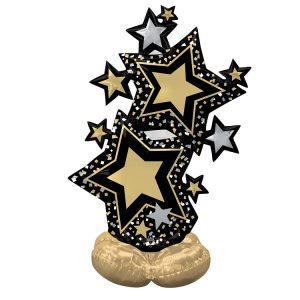 Black and Gold Star Cluster Airloonz