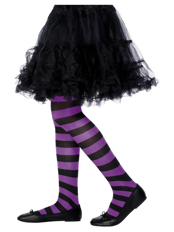 Childrens Purple and Black Tights