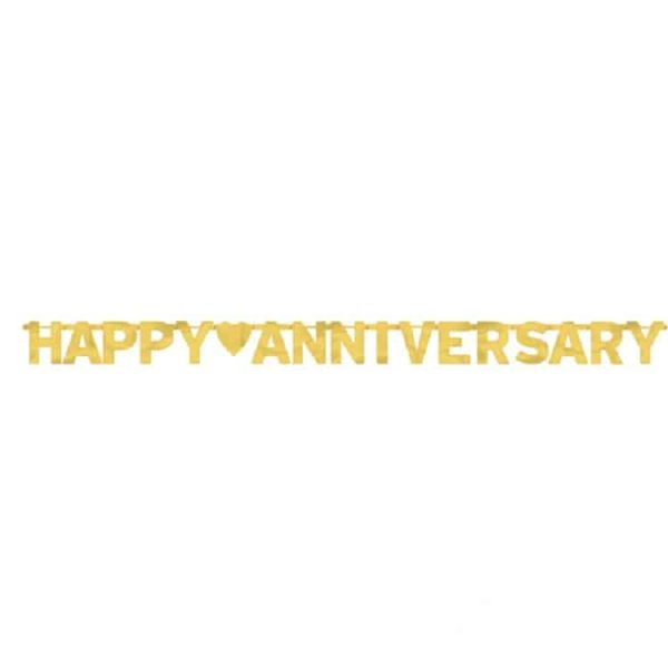 Gold Happy Anniversary Banner