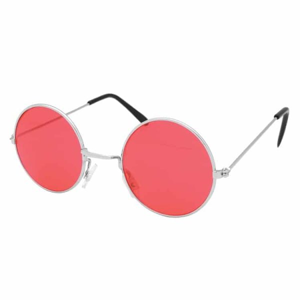 Red Hippie Style Round Glasses
