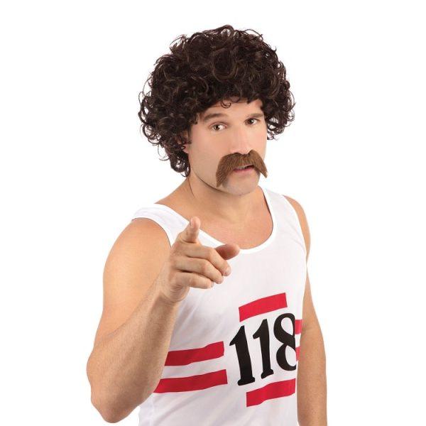 118 Wig and Moustache Set