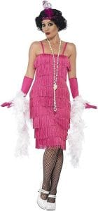 1920s Charleston Flapper Costume Pink X2