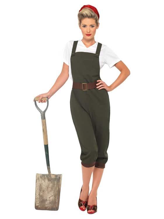 1940s WW2 Land Girl Costume XXL
