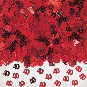 40TH Anniversary Metallic Confetti 14g