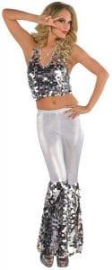 Adults Disco Diva 70's Abba Costume M-L