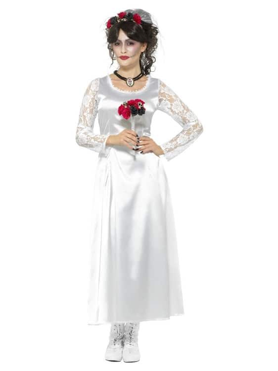 Day of the Dead Bride Costume X Large