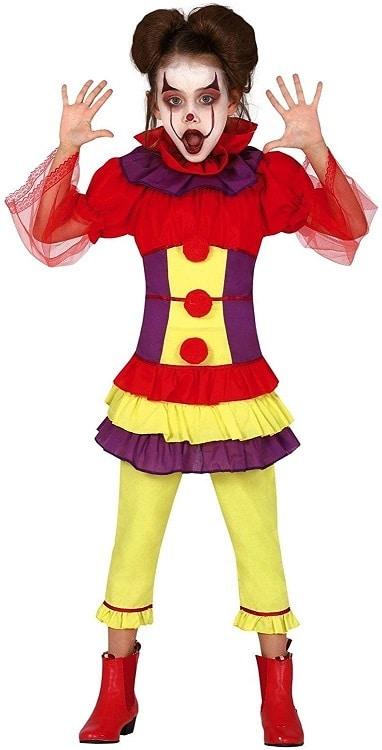 Girls Circus Clown It Costume 5-6