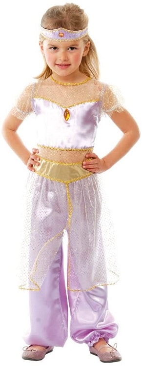 Girls Desert Princess Jasmine Style Costume 10-12