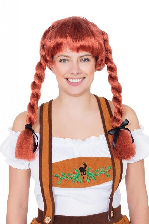 Oktoberfest Auburn Pigtail Wig