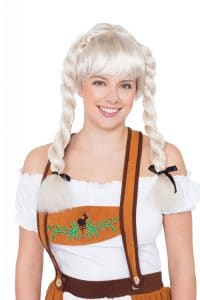 Oktoberfest Blonde Pigtail Wig