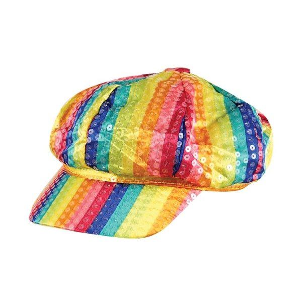 Rainbow Sequin Hat