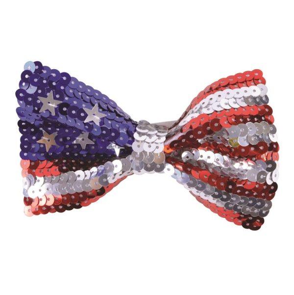 USA Sequin Bow Tie