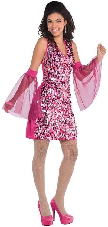 Womans Disco Diva 1970s Dress