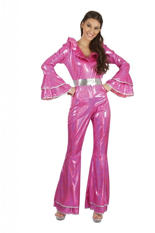 Womens Abba Disco Jumpsuit Pink One Size