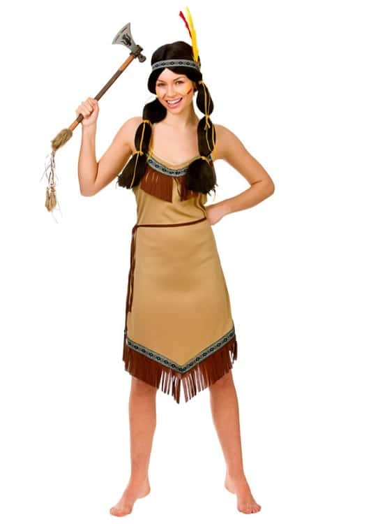Womens Indian Squaw Costume Small