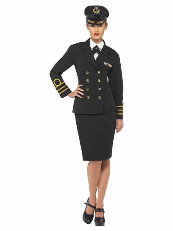 Womens Navy Officer Costume Large